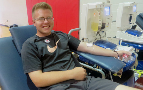 Students donate to blood drive