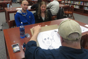 There were even caricatures done at after-prom. (photo by Jephthah Yarian)