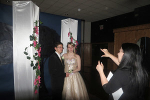 Students may have had a professional photo taken to never forget the night. (photo by Jephthah Yarian)