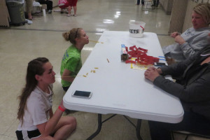 During the after-prom party, students could participate in Minute-to-Win-It. (photo by Jephthah Yarian)