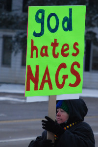counter-protester