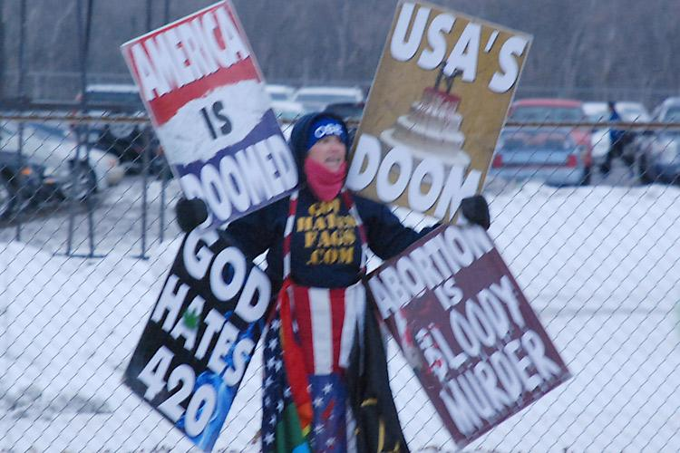 Westboro protestor