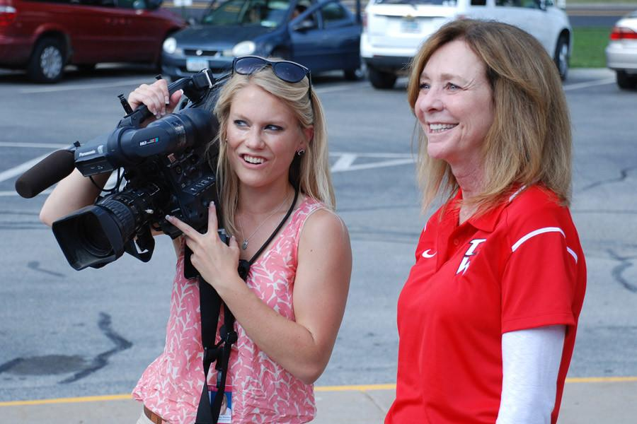 Principal Jenni Weipert invited a TV station to cover the surprise event on Sept. 4.  Her goal is to develop pride in students for their efforts.