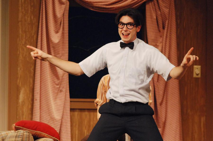 Tanner Mecham portrays the Nerd on Nov. 7 in the auditorium.