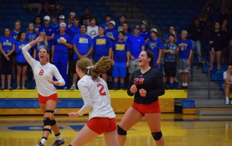 Falcons face the North High Wildcats in volleyball
