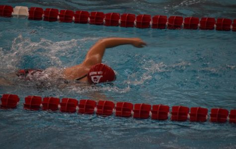 Girls' swim team holds Senior Night