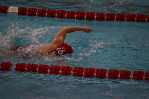 Girls' swim team holds Senior Night