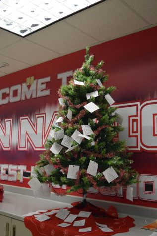 The Angel tree located in the main office of West.