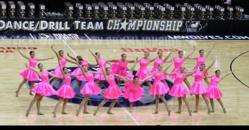 Diamond Dancers performed against some tough competitors from across Iowa at ISDTA State Dance and Drill Team Competition earning division ratings in all categories.  photo published with permission by Amanda Roseman