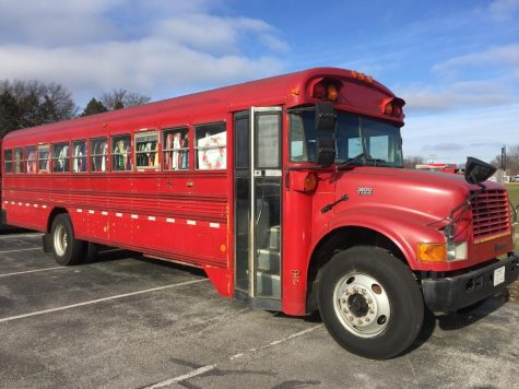 The Maddie's Closet bus that was parked in the West parking lot on Dec. 14, 2017.
