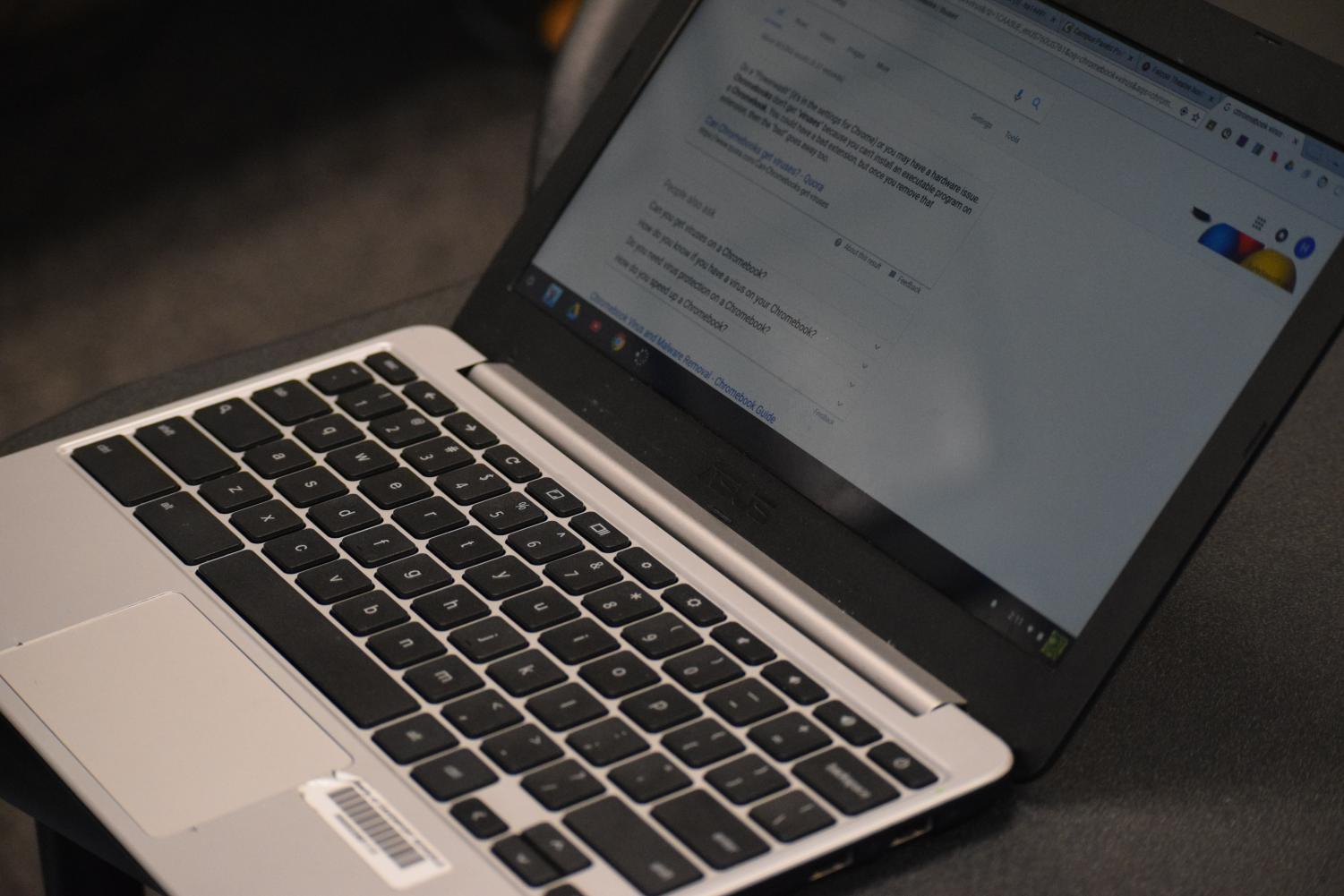 Students notice adware virus on Chromebooks when using search engines such as Google.