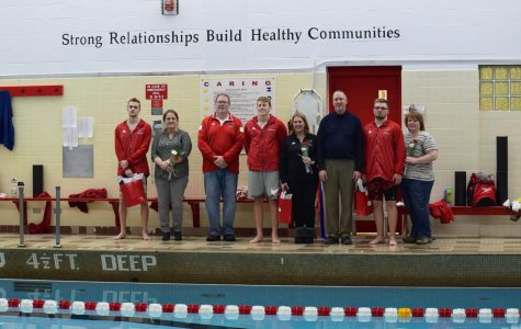 The swimming seniors take their final splash