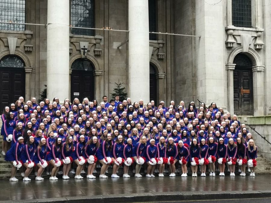 2017 kicked off with five West cheerleaders, 2018 seniors Maddy Seago, Rachel McCullough, and Sydney Heskett, 2017 graduates Abbie Kolberg, and Xana Simpson coming back from London on Jan. 2 after qualifying as All-American Cheerleader and performing in the New Year's Day Parade.