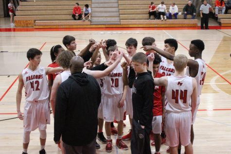 Boys basketball goes against Central Dewitt