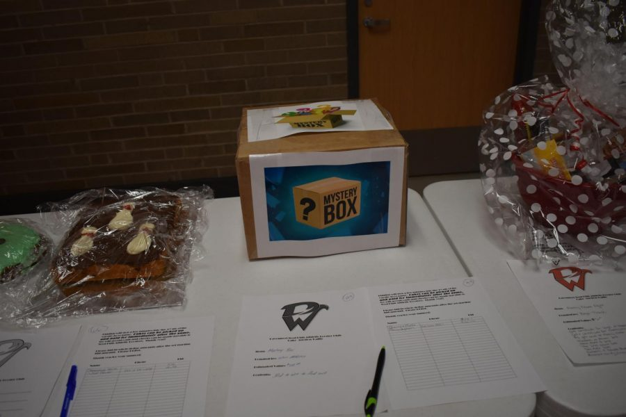 Mystery Box donated by West athletics filled with mystery items