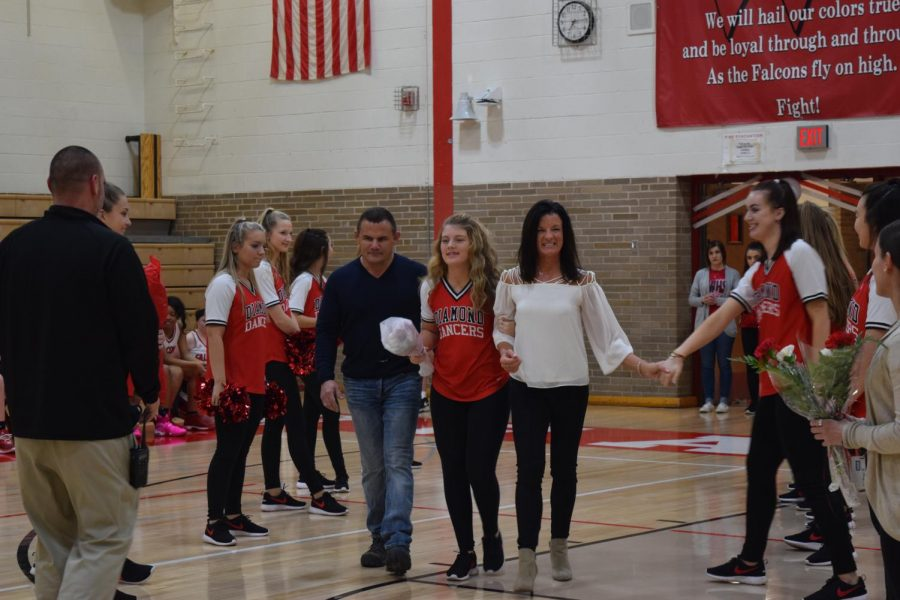 Mckenzie Seymour was accompanied by her mother and father. During high school school she participated in Falcon Friends and plans to attend Scott Community College for two years. She plans to transfer to the University of Iowa to study elementary education.