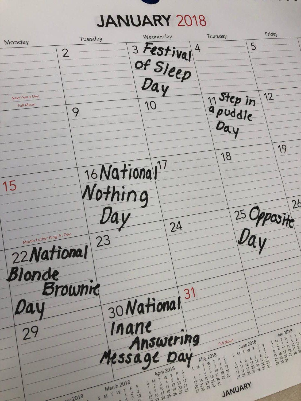 Bizarre holidays for bizarre hobbies
