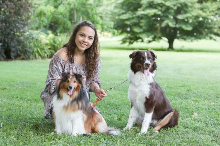 Shayla Cooper loves spending time with her dogs and will miss them dearly while attending Iowa State.