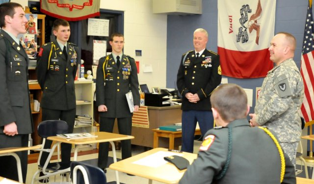 Army JROTC receives thanks for large quantity of volunteering in the community.