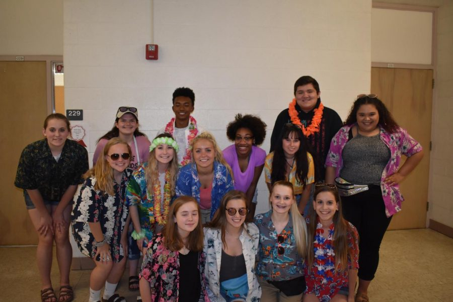 Student Senate celebrates day two of Charity Week by sporting their Vacation Day gear and demonstrating school spirit.