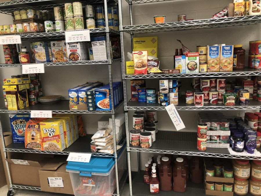The main function of the Falcon Nest is to act as a food pantry for West students.