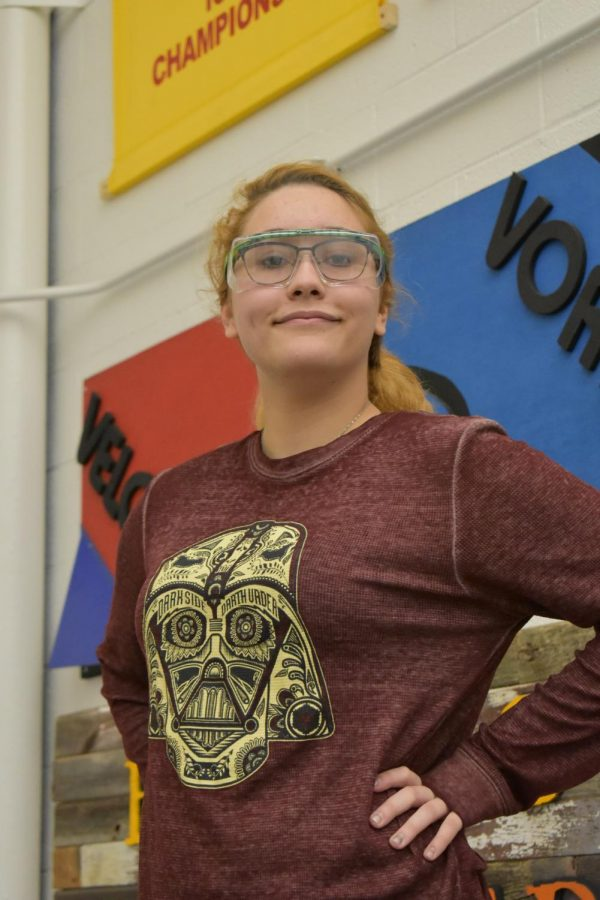 Christiansen is a computer-aided drafter at Deck Supply Services. Utilizing large amounts of math, she designs deck rails in computer-aided drafting software. After high school, Christiansen plans on pursuing mechanical engineering and design.