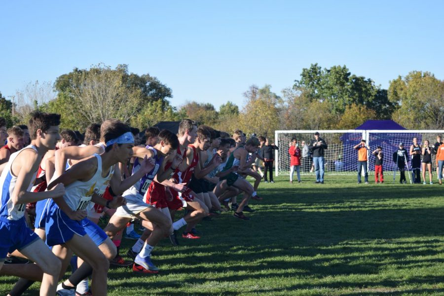 The cross country boy's team starts off strong.