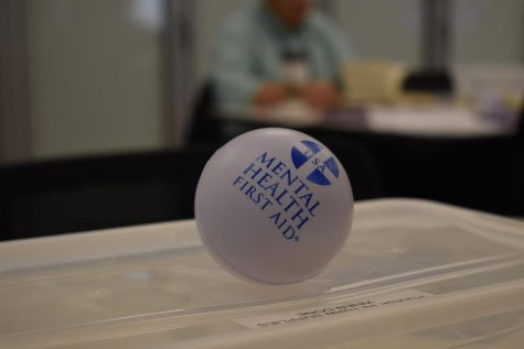 A stress ball was given to each table while training. Students passed the stress ball to one another as they shared stresses in their own life and over the course of the week.
