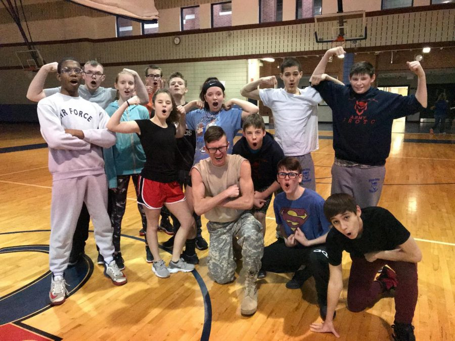 Army JROTC poses for a picture shortly after their Raider Team Tryouts. Their upcoming Raider Competition is the Black Cat Raider Challenge in Fredericktown, Missouri, in early April.