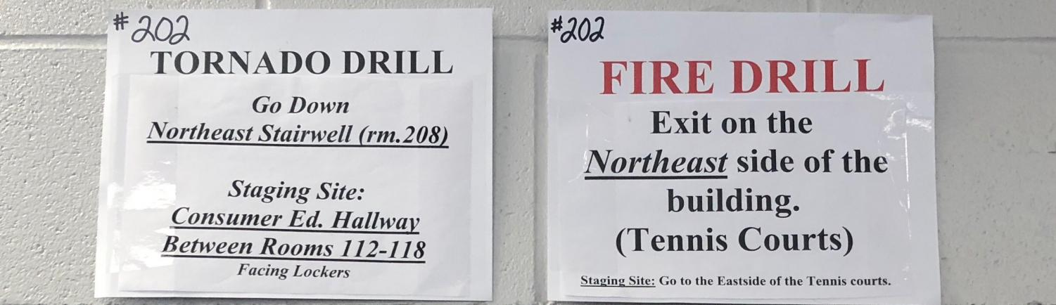 West is required by law to have four fire drills, four tornado drills, and two A.L.I.C.E (Alert, Lockdown, Inform, Encounter, Evacuate) drills per year.