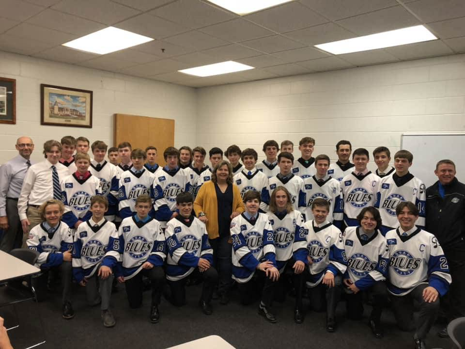 Quad Cities Blues hockey is a local high school team that consists of people from Illinois and Iowa such as Moline, Davenport, Bettendorf, and Pleasant Valley. It is a part of the Midwest Hockey League, which contains teams from all over the midwest.