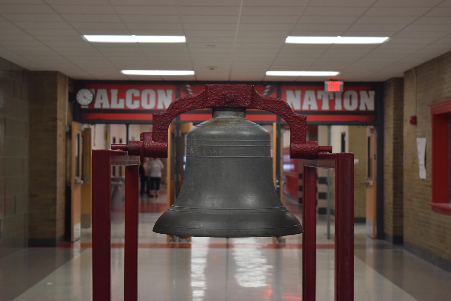 Part of the Falcon spirit at West includes the victory bell. When sports teams and clubs win a victory, they are able to ring the bell during the morning announcements. In the past the bell has been reserved solely for athletic achievements, but this year victories from any school activity can be recognized with a bell ring.