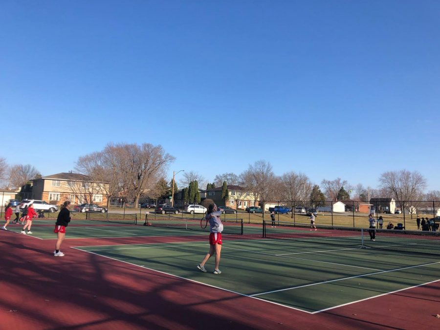 """It is important to become educated on the game. I played until I was a junior and so I just relied on my smarts and athletic ability. Somebody with more technique and who was more educated on how to hit the ball correctly ended up taking my varsity spot when I was senior,"" science teacher and tennis coach Ian McCloud said.  ""I don't ever want to see that happen again, and I know I have gotten a lot better when I know how to play the game correctly, so get educated."""