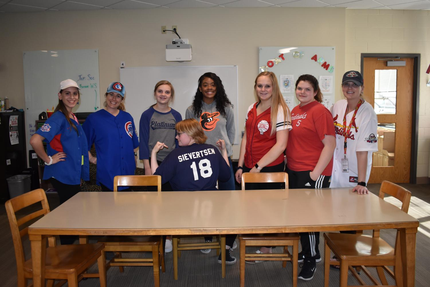 Student Senate takes part in Charity Week by wearing jerseys of their favorite sports teams on Wednesday, May 15. They dressed up every day of the week in an effort to raise awareness for the cause.