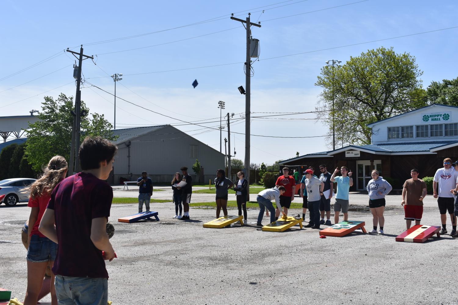 One of the featured games at the annual Falcon senior picnic was bags. West gym teachers were able to bring their supplies for students to use. According to Associate Principal Mike Orfitelli, it was the most popular activity.
