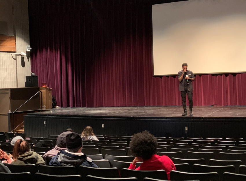 "Inspirational speaker , artist, and songwriter TC Boyd motivates his West High audience. iJAG invited Boyd who shared about losing his brother to gun violence. ""[I want you to] tell yourself, I am valuable. I have a mission. I can accomplish greatness,"" Boyd said."