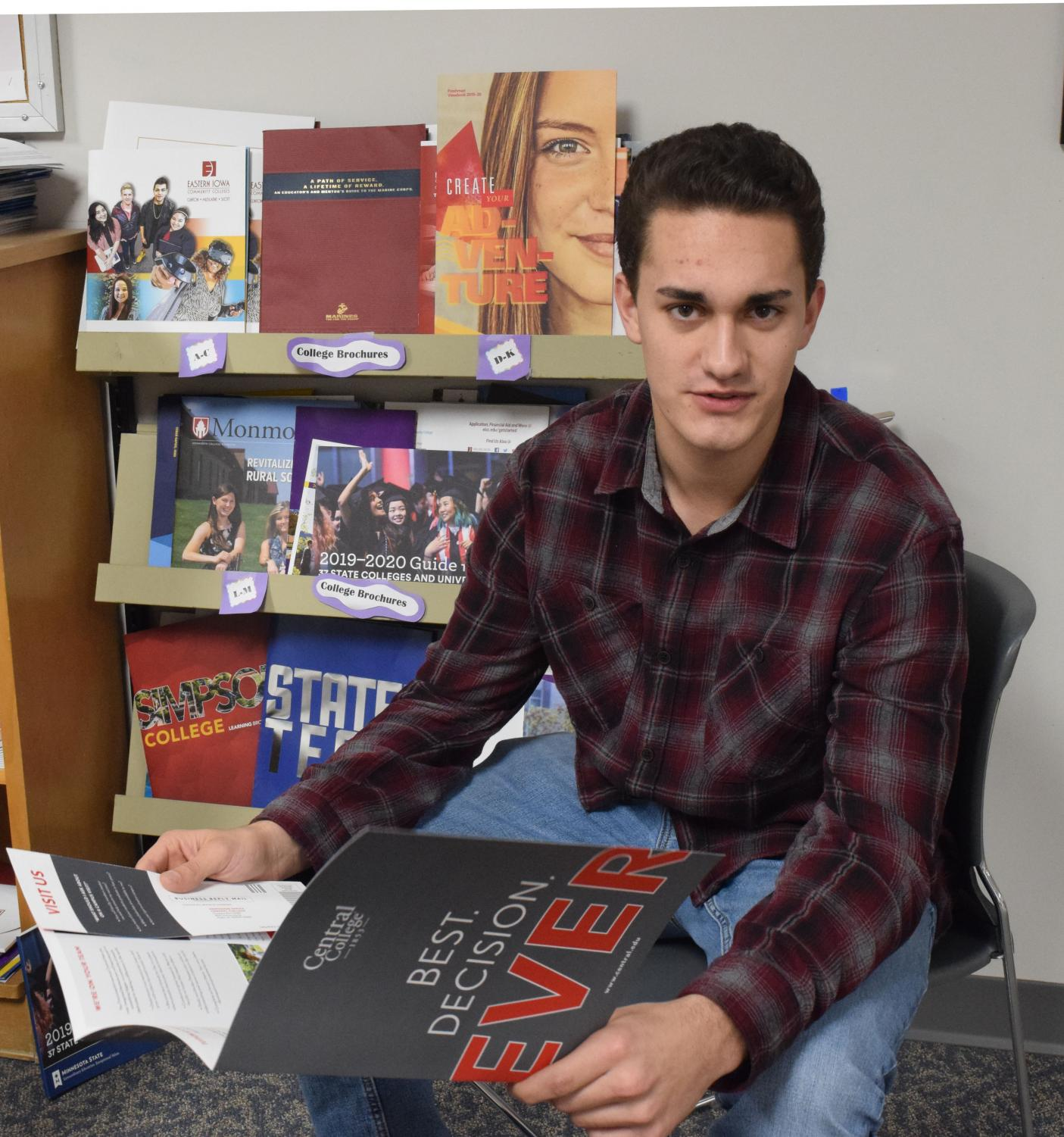 Senior Adam Parcel is serious about applying for scholarships as he inches his way closer to graduation. Parcel has applied for 24 scholarships so far.