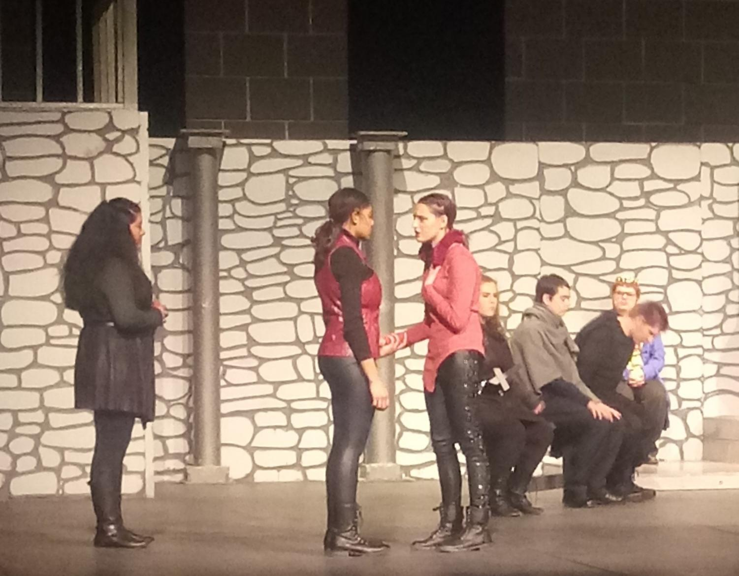 Hamlet confronting Leah before they fight. To try and settle what's between them before they fence, Hamlet apologizes to Leah, who appreciates it but doesn't accept