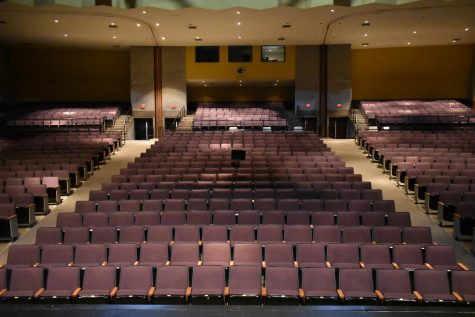 The auditorium, where concerts are held, empty.