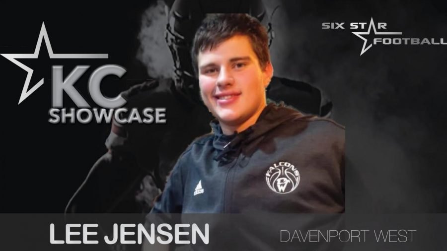 "Lee Jensen's announcement photo for the Kansas City showcase at the end of March. Jensen believed that the showcase would help boost his football career and get his name into the minds of college coaches. ""It will help show some college coaches the talent that I have and show them how much better I've gotten,"" Jensen said."